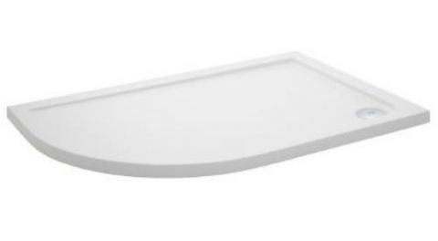 Ultra Pearlstone 1000mm x 800mm Offset Quadrant Left Hand Shower Tray
